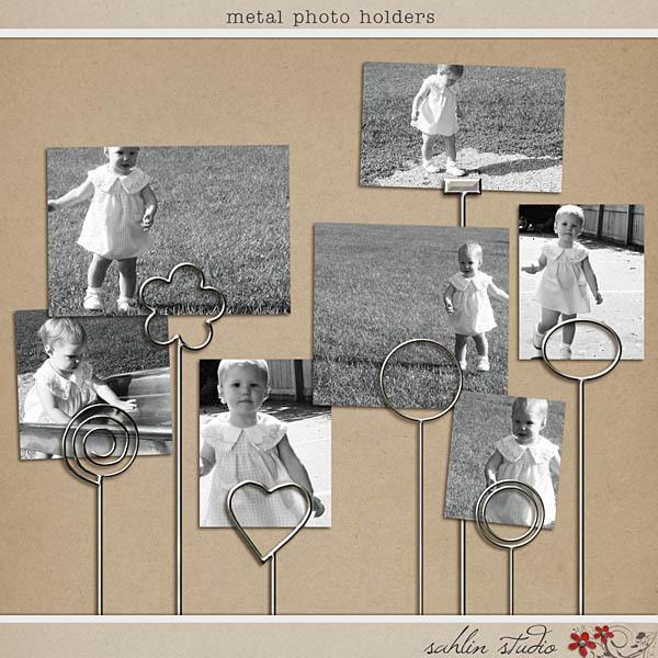 Metal Photo Holders by Sahlin Studio