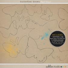 Butterflies: Drawn by Sahlin Studio