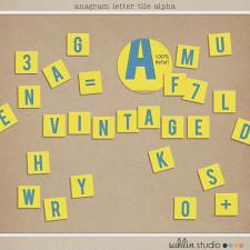 Anagram Letter Tile Alpha by Sahlin Studio