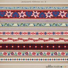 Jacquard Ribbon Trims No. 2 by Sahlin Studio