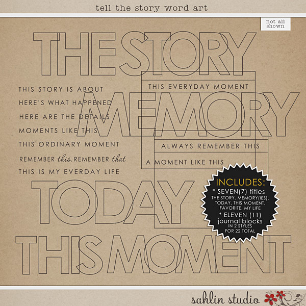 Tell the Story Word Art by Sahlin Studio