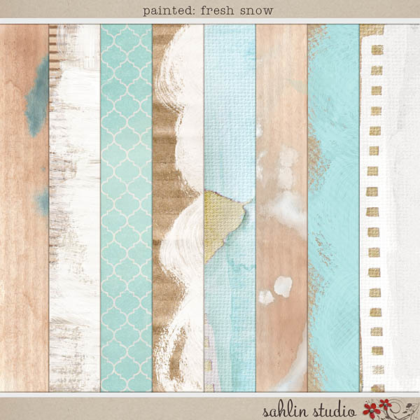 Painted: Fresh Snow Papers by Sahlin Studio