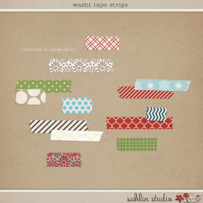 Washi Tape Strips by Sahlin Studio