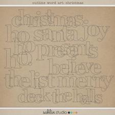 Outline Word Art: Christmas by Sahlin Studio