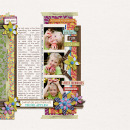 layout featuring Recycled Paper Flowers: Graffiti by Sahlin Studio and JamboChameleon
