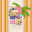 digital scrapbook layout created by liahra featuring Retro Color Press Papers and Fabric Snip Flowers by Sahlin Studio