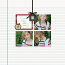 layout by kristasahlin featuring Monogrammed Note Cards by Sahlin Studio
