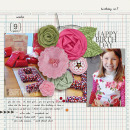 layout by kristasahlin featuring Vintage Poinsettia by Sahlin Studio and Precocious Paper