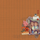 layout featuring Snipettes: The Perfect Pumpkin and Outline Word Art: Halloween by Sahlin Studio