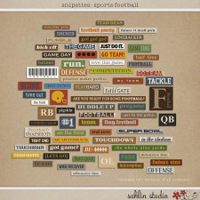 Snipettes: Sports-Football by Sahlin Studio