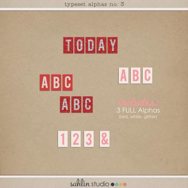 Typeset Alpha No. 3 by Sahlin Studio