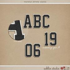 Varsity Jersey Alpha by Sahlin Studio