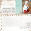 layout featuring Painted: Fresh Snow Papers, Writing in the Snow and Icicles Alpha by Sahlin Studio
