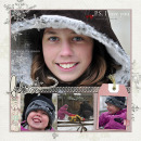 layout by HeatherPrins featuring Writing in the Snow by Sahlin Studio