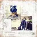 layout by MarieL featuring Painted: Fresh Snow Papers, Writing in the Snow and Icicles Alpha by Sahlin Studio