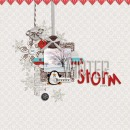 layout by mom2da3ks featuring Writing in the Snow and Icicles Alpha by Sahlin Studio