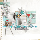 layout by snaggletooth75 featuring Painted: Fresh Snow Papers, Writing in the Snow and Icicles Alpha by Sahlin Studio