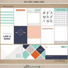 Like a Boss (Journal Cards) by Sahlin Studio - Perfect for your Project Life album!