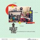 Digital scrapbooking inspiration using Composition by Sahlin Studio