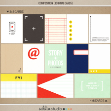 Composition (Journal Cards) by Sahlin Studio - Perfect for Project Life albums!