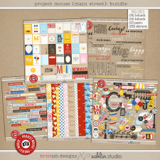 Project Mouse (Main Street): BUNDLE by Britt-ish Designs and Sahlin Studio - Perfect for Project Life or Project Mouse albums