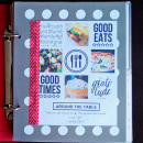 Recipe Book - Digital Project Life layout featuring MPM: Home and Gather by Sahlin Studio