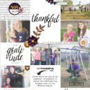 digital pocket scrapbooking layout by lynnette featuring mpm home add on: gather.