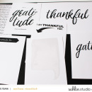 Thankful, Gratitude Digital Project Life cards featuring Gather by Sahlin Studio