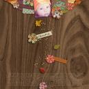 digital scrapbook layout featuring handmade paper flowers: autumn sunset by sahlin studio