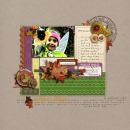 digital scrapbook layout featuring Autumn Word Art by Sahlin Studio