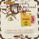 digital scrapbooking layout featuring modern words: back to school by sahlin studio