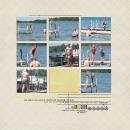digital scrapbooking layout featuring Est. Date by Sahlin Studio