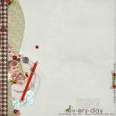 digital scrapbook layout featuring Everyday by Sahlin Studio