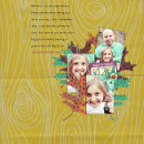 digital scrapbooking layout featuring (fall)ing leaves by sahlin studio