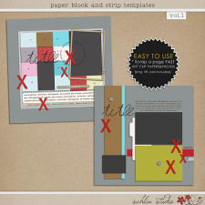 Paper Block and Strip Templates by Sahlin Studio