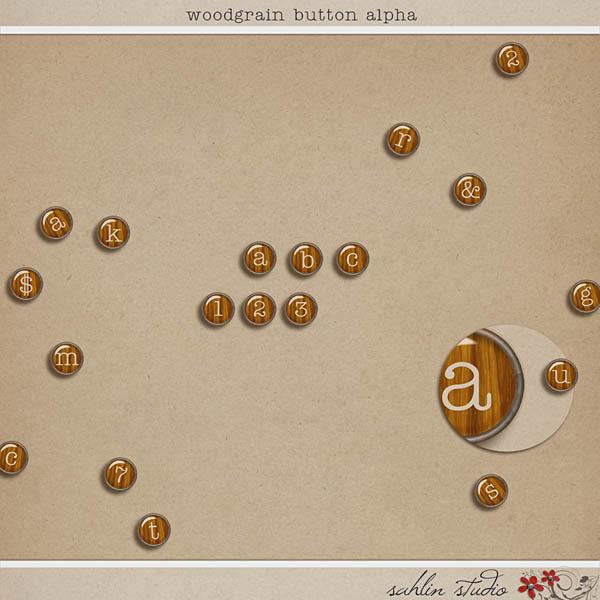 Woodgrain Button Alpha by Sahlin Studio