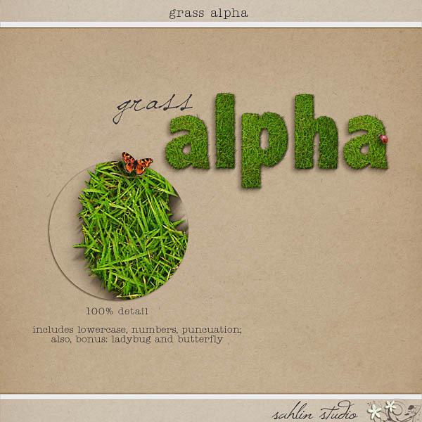 Grass Alpha by Sahlin Studio