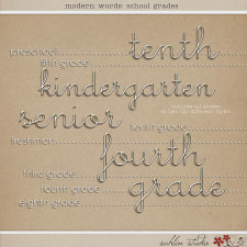 Modern Words: School Grades by Sahlin Studio