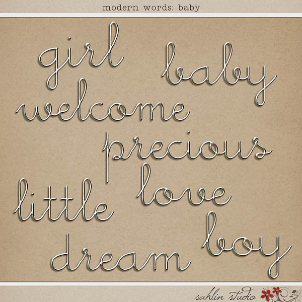 Modern Words: Baby by Sahlin Studio