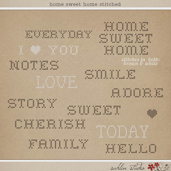 Home Sweet Home Stitched by Sahlin Studio