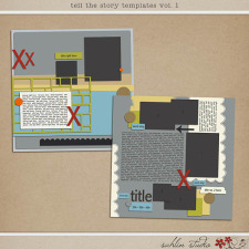 Tell the Story Templates vol. 1 by Sahlin Studio