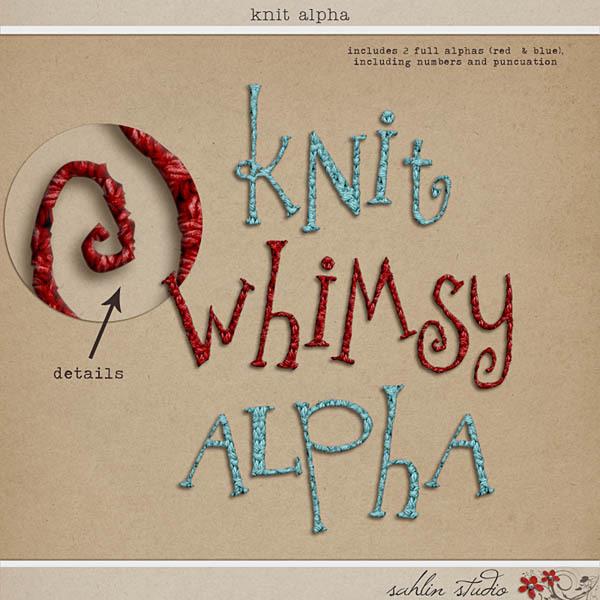 Knit Alpha by Sahlin Studio