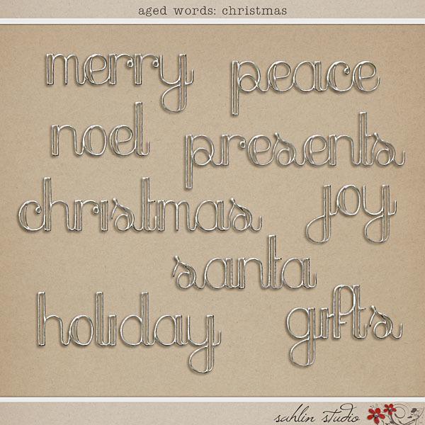 Aged Words: Christmas by Sahlin Studio