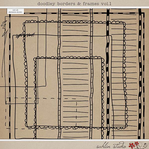 Doodley Borders and Frames Vol. 1 by Sahlin Studio