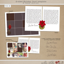 2-Sided Holiday Card Template Vol. 2 by Sahlin Studio