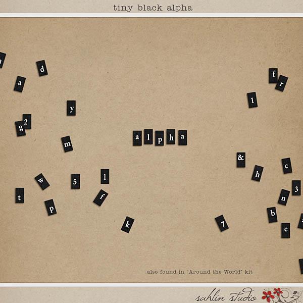 Tiny Black Alpha by Sahlin Studio