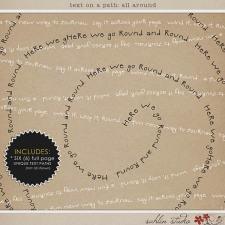Text on Path: All Around by Sahlin Studio