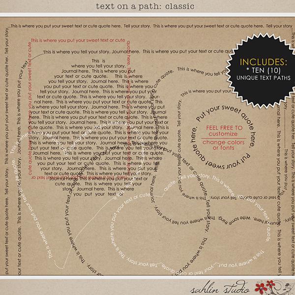 Text on Path: Classic by Sahlin Studio