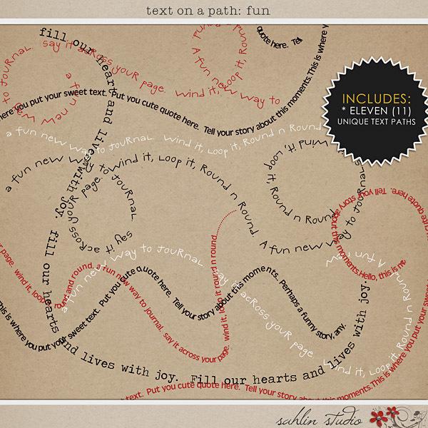 Text on Path: Fun by Sahlin Studio