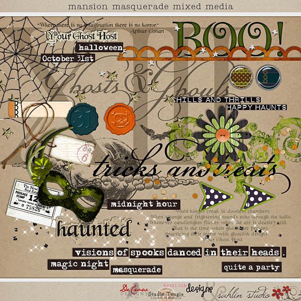 Mansion Masquerade Mixed Media by Britt-ish Designs, DeCrow Designs, Sahlin Studio and Tangie Baxter